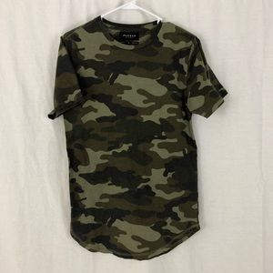 Pacsun camo scallop fit tee